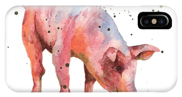 Pig Painting IPhone Case