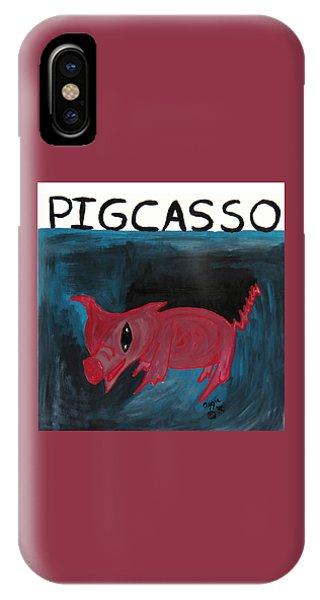 Pigcasso IPhone Case