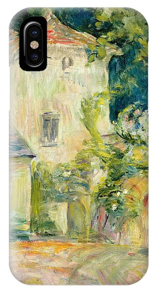 Pigeon iPhone Case - Pigeon Loft At The Chateau Du Mesnil by Berthe Morisot