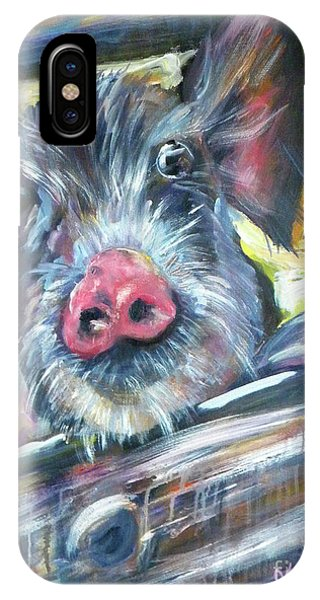 Wheeler Farm iPhone Case - Piggy by JoAnn Wheeler