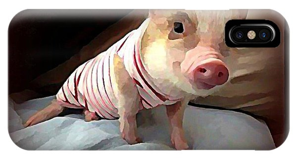 iPhone Case - Piglet In Pjs by Raven Hannah