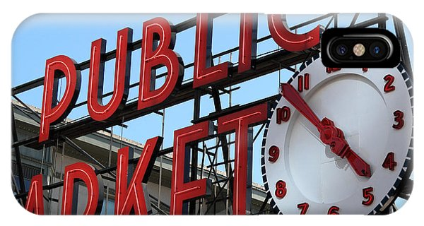 Pike Street Market Clock IPhone Case