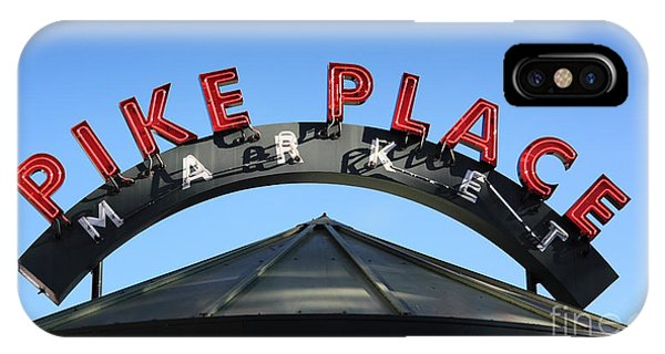 Pike Street Market Sign IPhone Case