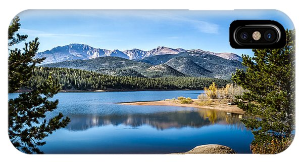 Pikes Peak Over Crystal Lake IPhone Case