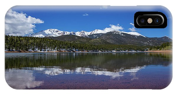 Fourteener iPhone Case - Pike's Peak Red Reflection by Bridget Calip