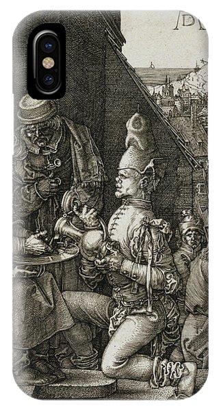 Albrecht Durer iPhone Case - Pilate Washing His Hands by Albrecht Durer