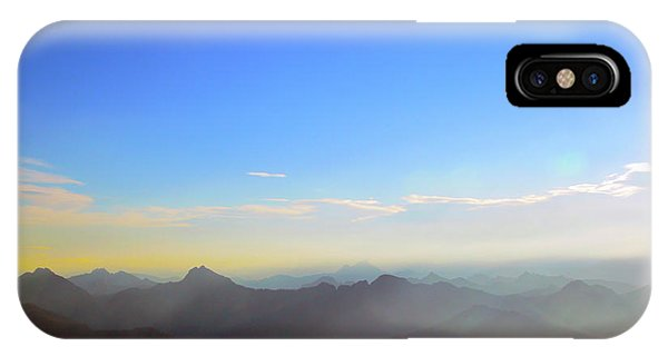 Pilchuck And Three Sisters Sunrise IPhone Case