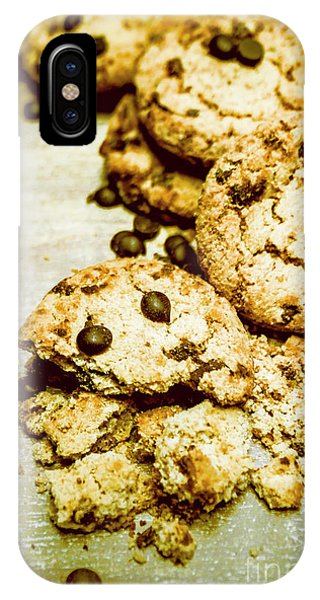 Chip iPhone Case - Pile Of Crumbled Chocolate Chip Cookies On Table by Jorgo Photography - Wall Art Gallery