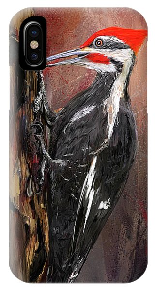 Pileated Woodpecker Art IPhone Case