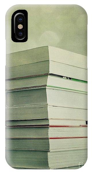 Still Life iPhone X Case - Piled Reading Matter by Priska Wettstein