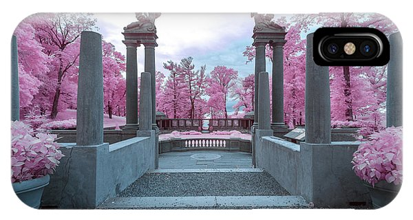 IPhone Case featuring the photograph Pillars With Pink by Brian Hale