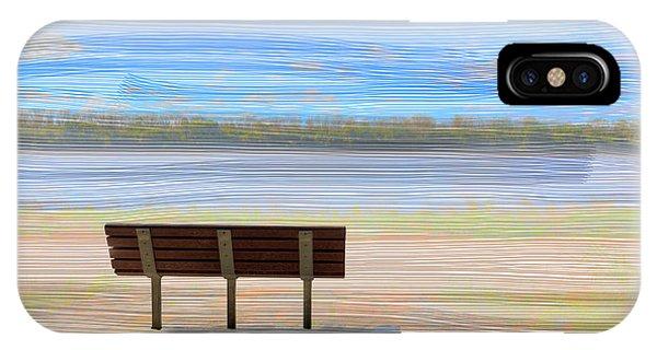 Park Bench iPhone Case - Pilot Rock by Larry Braun