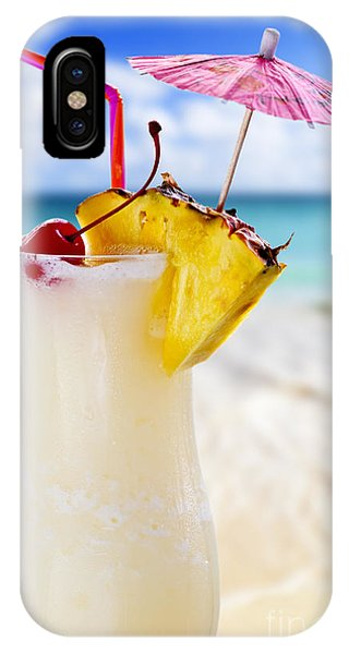 Beverage iPhone Case - Pina Colada Cocktail On The Beach by Elena Elisseeva