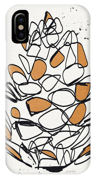 Nature Abstract iPhone Case - Pine Cone- Art By Linda Woods by Linda Woods