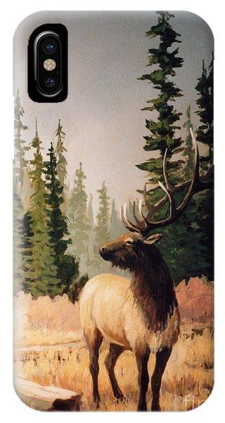 Pine Meadow Elk Phone Case by JoAnne Corpany