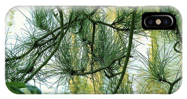 Pine Needles Patchwork IPhone Case