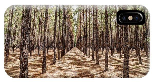 Pine Plantation Wide Color IPhone Case