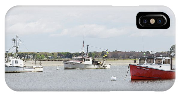 IPhone Case featuring the photograph Pine Point Boats by Kirkodd Photography Of New England