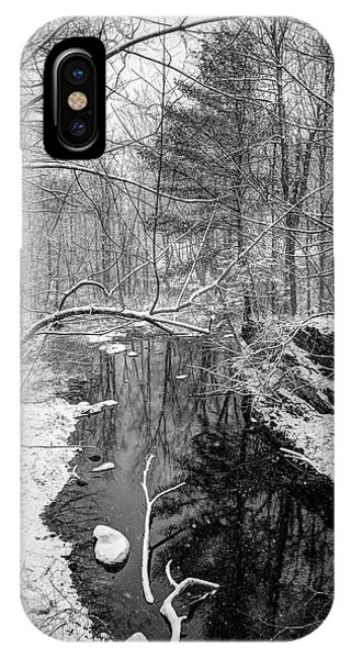 Pine Reflection On The Sheepscot IPhone Case