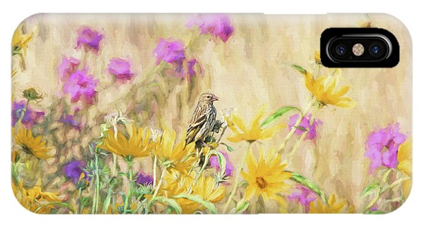 IPhone Case featuring the photograph Pine Siskin Bird In The Garden by Jennie Marie Schell