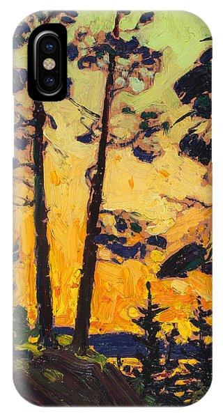 Pine Trees At Sunset IPhone Case