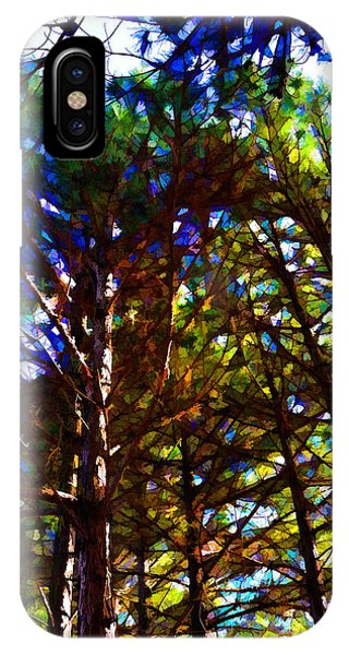 Pine Trees In Abstract 1 IPhone Case