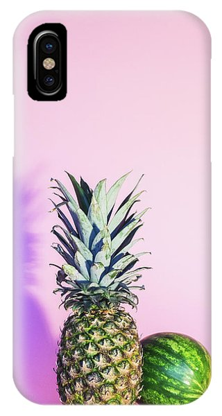 Pineapple iPhone Case - Pineapple And Watermelon by Happy Home Artistry