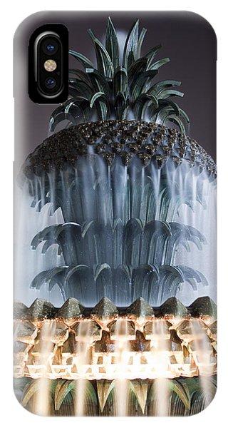 Pineapple iPhone Case - Pineapple Fountain Charleston Sc by Dustin K Ryan