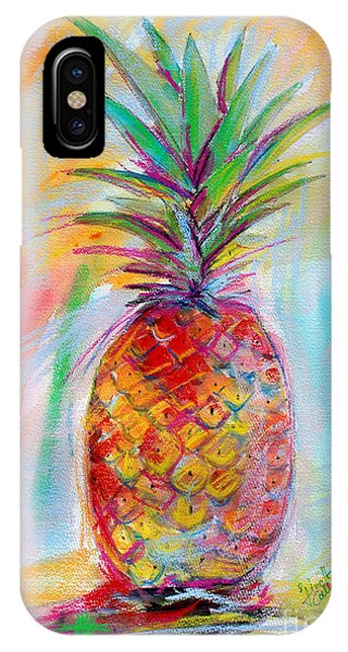 Pineapple Mixed Media Painting IPhone Case