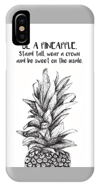 IPhone Case featuring the drawing Pineapple by Nancy Ingersoll