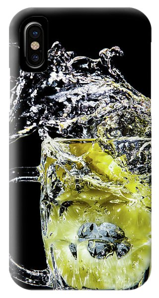 IPhone Case featuring the photograph Pineapple Splash by Ray Shiu