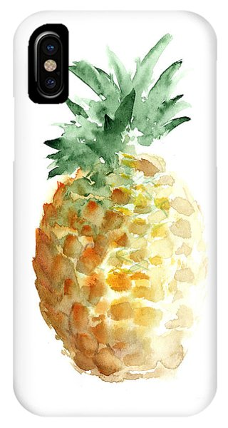 Pineapple Watercolor Minimalist Painting IPhone Case