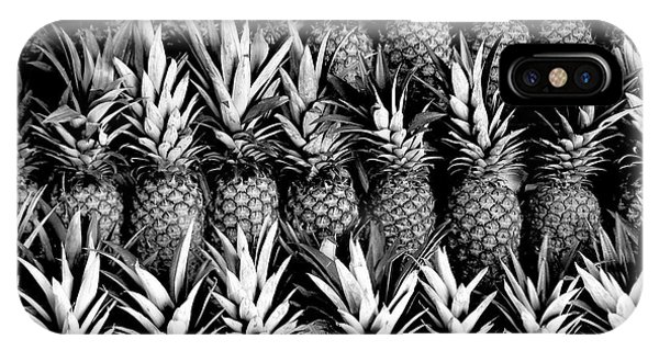 Pineapples In B/w IPhone Case