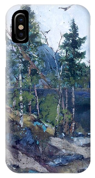 IPhone Case featuring the painting Pinelake  by Helen Harris