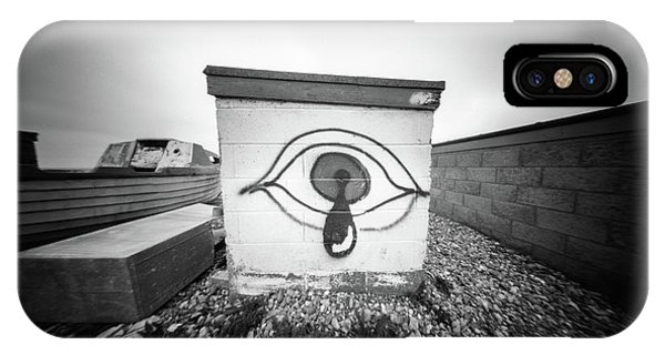 IPhone Case featuring the photograph Pinhole Crying Eye by Will Gudgeon