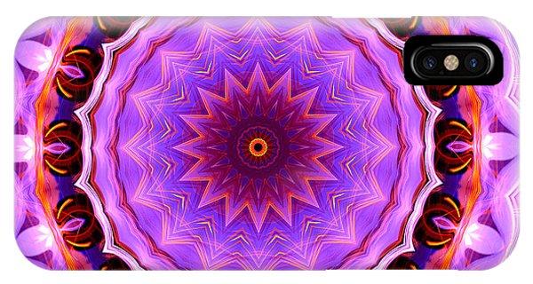 Pink 16-petals Kaleidoscope IPhone Case