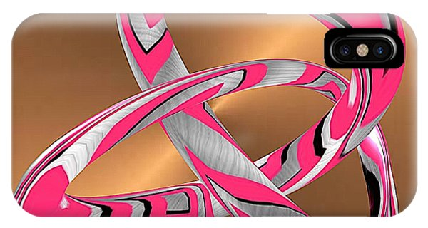 Pink Abstract On Gold IPhone Case