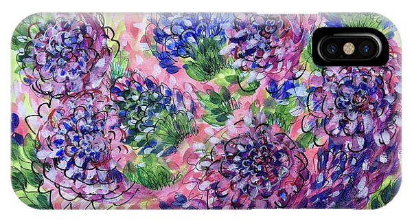 Pink And Blue Flower Flurry IPhone Case