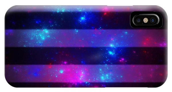 Pink And Blue Striped Galaxy IPhone Case