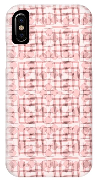 Pink And Brown Geometric Shapes In Blocked Pattern IPhone Case