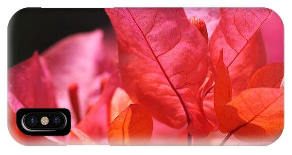 Pink And Orange Bougainvillea - Square IPhone Case