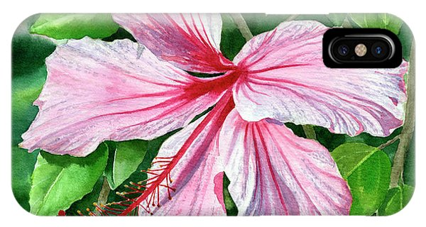 Hibiscus Flower iPhone Case - Pink And Red Hibiscus by Sharon Freeman