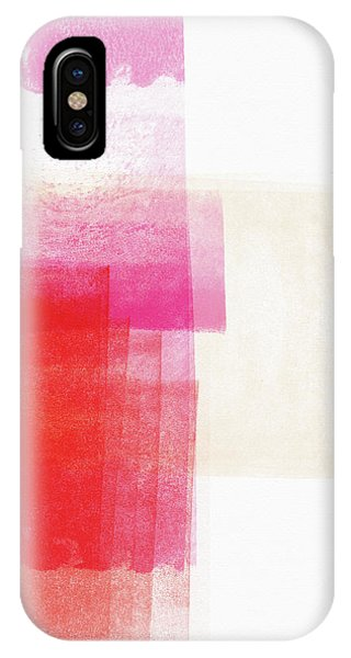 Pink iPhone Case - Pink And Red Minimalist Abstract Art By Linda Woods by Linda Woods