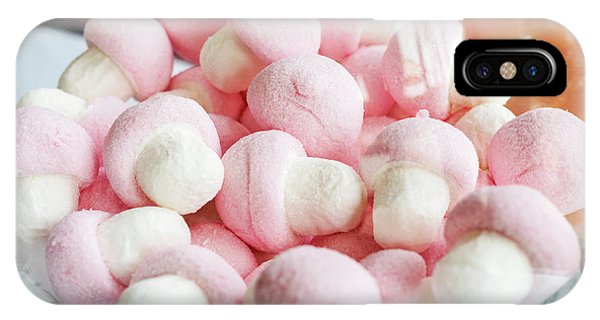 Pink And White Marshmallows In Bowl IPhone Case