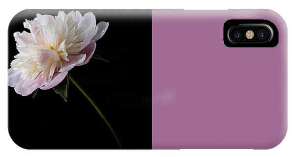 Pink And White Peony IPhone Case