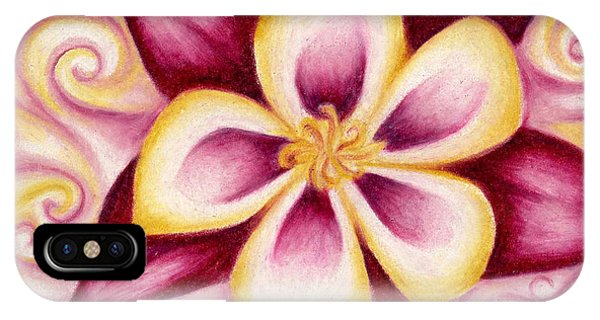 Pink And Yellow Columbine Flower Drawing IPhone Case