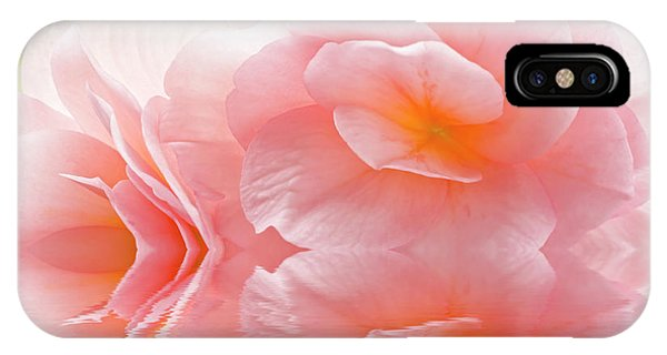 Pink Begonia Reflection 1 Macro IPhone Case
