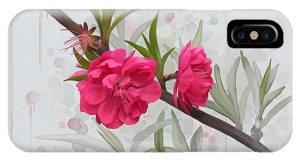IPhone Case featuring the painting Hot Pink Blossom by Ivana Westin