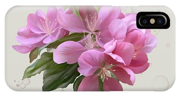 IPhone Case featuring the painting Pink Blossoms by Ivana Westin