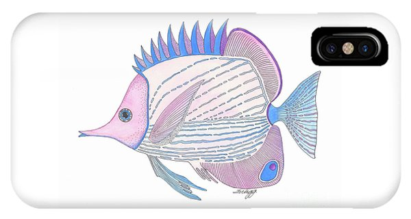 Pink Blue Fish IPhone Case